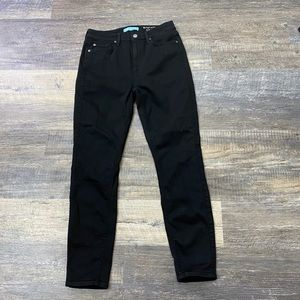 7 For all Mankind Blair Black Skinny Jeans